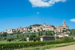 Miasto ściany Castiglion Fiorentino w Tuscany obrazy royalty free