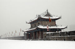 miasto śniegu mur Xian. obrazy stock
