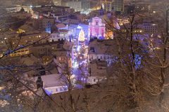 miasto świąteczny Obrazy Stock