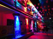 miasto światła na noc Obrazy Royalty Free
