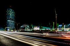miasto światła na noc Fotografia Stock