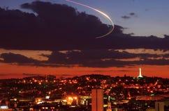miasto światła na noc Zdjęcia Stock