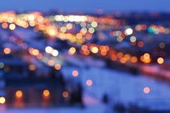 miasto światła ulicę Fotografia Royalty Free
