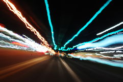 miasto światła w nocy Obraz Royalty Free