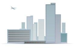 miasto (1) krajobraz Ilustracji