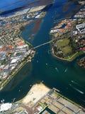 miasto 2 przybrzeżne Zdjęcia Royalty Free