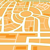miasto abstrakcjonistyczna mapa Zdjęcia Stock