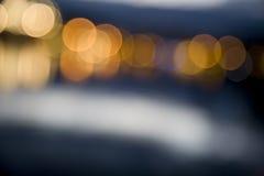 miasto abstrakcjonistyczna ostrość zaświeca noc abstrakcjonistyczny Zdjęcia Royalty Free