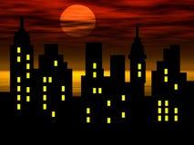 miasto abstrakcyjna sylwetka ilustracji