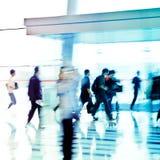 Miasto abstraktów ludzie biznesu Zdjęcia Royalty Free