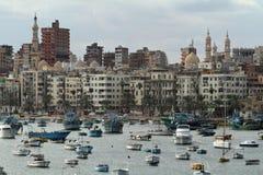 Miasto Aleksandria w Egipt zdjęcie royalty free