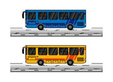 Miasto autobusowa wektorowa ilustracja Zdjęcia Stock