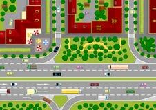 miasto autostrada Ilustracji