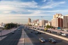 Miasto autostrada w Kuwejt Zdjęcie Royalty Free