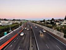 miasto autostrady ruchu drogowego ruchu plama Zdjęcie Stock