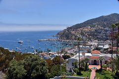 Miasto Avalon na Santa Catalina wyspie Zdjęcia Royalty Free