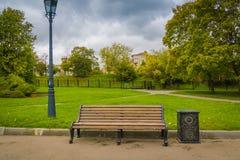 Miasto ławka i park Obraz Royalty Free
