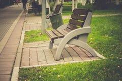 Miasto ławka i park Obraz Stock