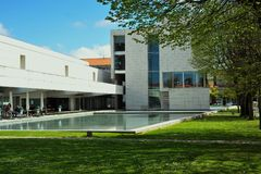 Miasto biblioteka Florbela Espanca Matosinhos Portugalia fotografia royalty free