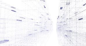 miasto binarnego nocy cyfrowy tunelu Zdjęcia Royalty Free