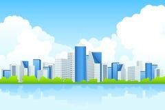 Miasto biznesowy Krajobraz Zdjęcia Stock