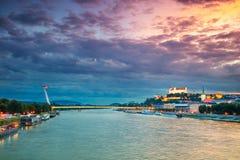 Miasto Bratislava, Sistani obraz stock
