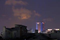 Miasto Bucharest przy nocą Fotografia Stock