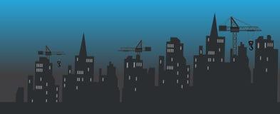 Miasto budowa ilustracji