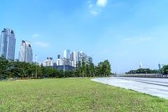 Miasto budowy w Guangzhou porcelanie Zdjęcie Stock
