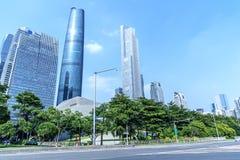 Miasto budowy w Guangzhou porcelanie Obrazy Royalty Free