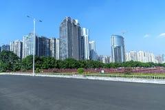 Miasto budowy w Guangzhou porcelanie Zdjęcie Royalty Free