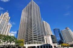 Miasto budynków Chicago rzeka Zdjęcie Stock