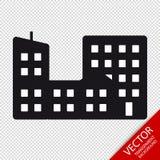 Miasto budynków Płaska ikona Odizolowywająca Na Przejrzystym tle - Wektorowa ilustracja - Zdjęcia Stock