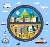 Miasto budynki ilustracja wektor