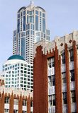 Miasto budynki Obrazy Royalty Free