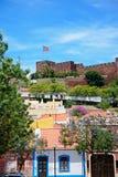 Miasto budynki i kasztel, Silves, Portugalia Obraz Royalty Free