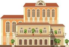 Miasto budynki Na Białym tle royalty ilustracja