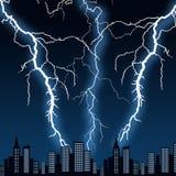 Miasto burza ilustracja wektor