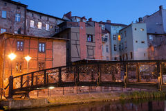 Miasto Bydgoski nocą w Polska Obrazy Royalty Free