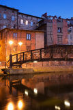 Miasto Bydgoski nocą w Polska Obraz Royalty Free