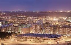Miasto Cartagena przy nocą, Murcia, Hiszpania Obraz Stock
