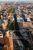 Miasto Chicagowscy w centrum usa budynki obrazy royalty free