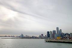 Miasto chicagowska linia horyzontu zdjęcie royalty free