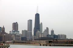 Miasto chicagowska linia horyzontu Zdjęcia Royalty Free