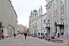 Miasto chodząca ulica w Rosja Zdjęcia Royalty Free