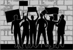 miasto demonstracja ilustracja wektor