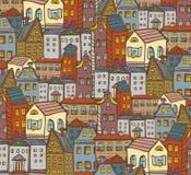 Miasto domów wzór Zdjęcie Stock