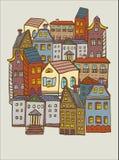 Miasto domów wzór Obrazy Stock
