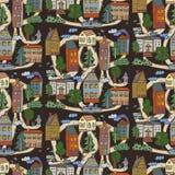 Miasto domów wzór Obraz Royalty Free