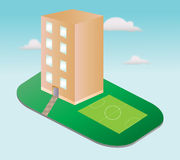 Miasto domowa ikona ilustracji
